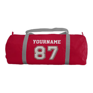 Personalized Baseball Number 87 with Your Name Gym Bag