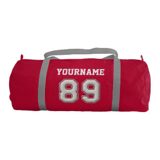 Personalized Baseball Number 89 with Your Name Gym Bag