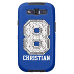 Personalized Baseball Number 8 Samsung Galaxy S3 Case