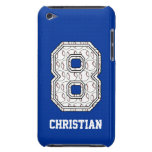 Personalized Baseball Number 8 Barely There iPod Cases