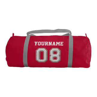 Personalized Baseball Number 8 with Your Name Gym Bag