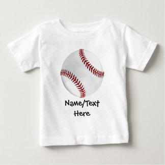 Personalized Baseball on Green Kids Boys Baby T-Shirt