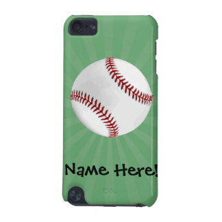 Personalized Baseball on Green Kids Boys iPod Touch 5G Case