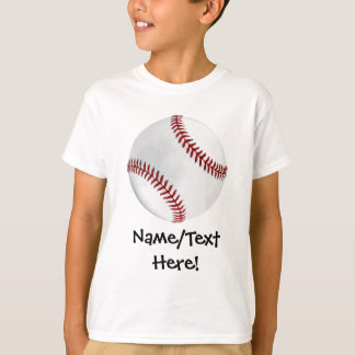Personalized Baseball on Green Kids Boys T-Shirt