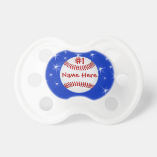 Personalized Baseball Pacifier NAME, NUMBER, COLOR