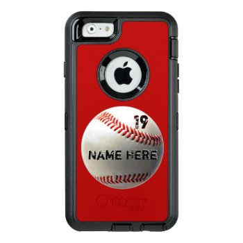 Personalized Baseball Phone Case Otterbox Defender by LittleLindaPinda at Zazzle