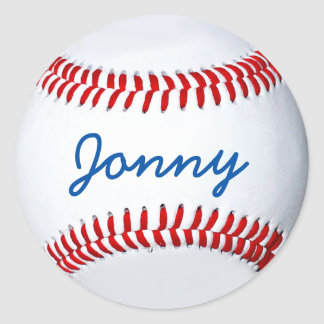 Personalized Baseball Photo Sticker