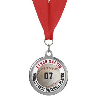 Personalized Baseball Player or Coach Custom Medal