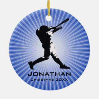 Personalized Baseball Player Ornament