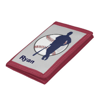 Personalized Baseball Player Trifold Wallet