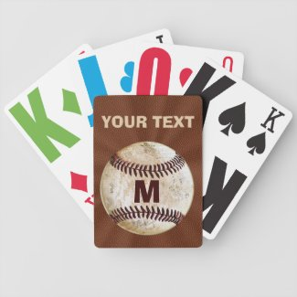 Personalized Baseball Playing Cards for Him Bicycle Playing Cards
