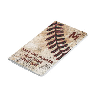 Personalized Baseball Pocket Notebooks YOUR TEXT