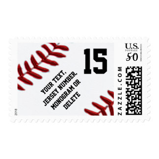 PERSONALIZED Baseball Postage Stamps
