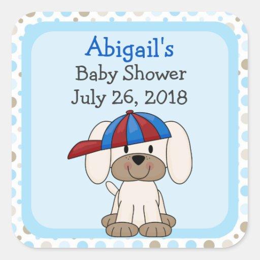 personalized baseball puppy baby shower stickers zazzle