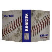 Personalized Baseball Rookie Card Binder binder