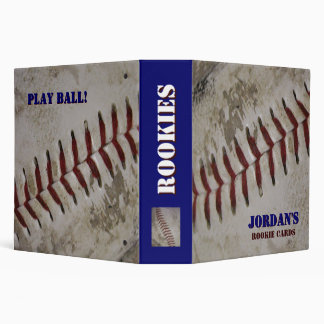 Personalized Baseball Rookie Card Binder
