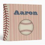 Personalized Baseball Scrapbook Binder