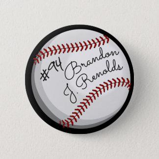 Personalized Baseball Signature Button