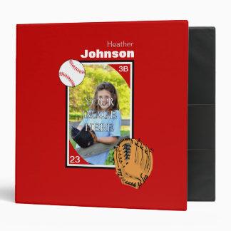 Personalized Baseball/Softball Binder