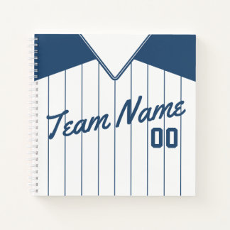 Personalized Baseball Softball Jersey Notebook