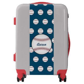 Personalized Baseball Sports Luggage Suitcase Gift