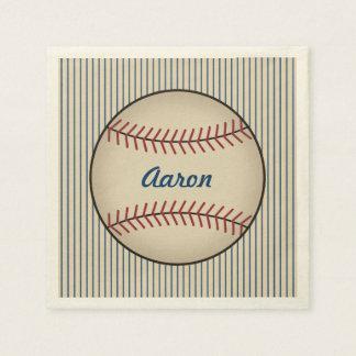 Personalized Baseball Sports Party Napkins