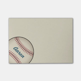 Personalized Baseball Sports Post It Notes Gift