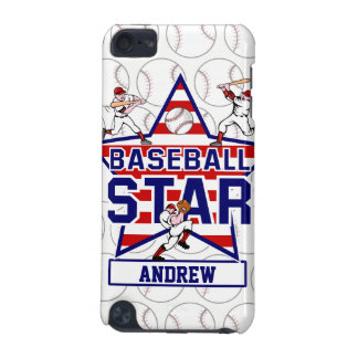 Personalized Baseball Star and stripes iPod Touch (5th Generation) Case