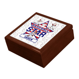 Personalized Baseball Star and stripes Gift Boxes