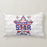 Personalized Baseball Star and stripes Pillows