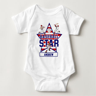 Personalized Baseball Star and stripes Shirt