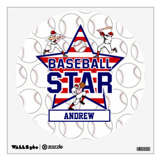 Personalized Baseball Star and stripes Wall Decor