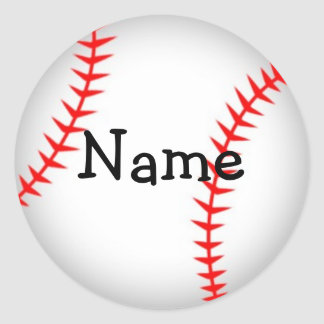 Personalized Baseball Sticker