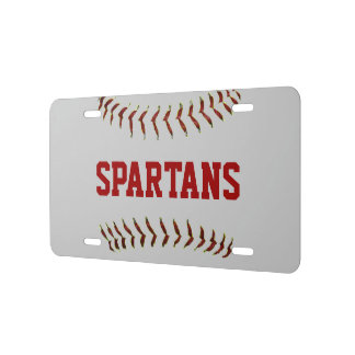Personalized Baseball Team Name Lcense Plate