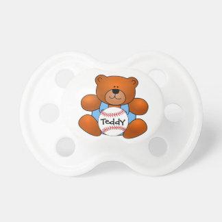 Personalized Baseball Teddy Bear Design Pacifier BooginHead Pacifier