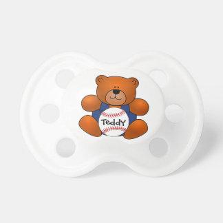 Personalized Baseball Teddy Bear Design Pacifier