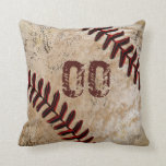 "Personalized Baseball Throw Pillows JERSEY NUMBER<br><div class=""desc"">Personalized Cool faux Ancient Vintage Baseball Throw Pillows with YOUR JERSEY NUMBER typed into Text Box or DELETE IT. For Multiple Names, PERSONALIZE ONE Baseball Pillow at a Time, &quot;Add to Cart&quot; and Go Back and customize the next Baseball Throw Pillow. CALL Rodney or Linda to help you personalize it...</div>"