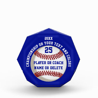 Personalized Baseball Trophies Your COLORS, TEXT Award