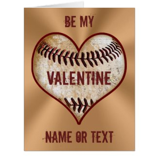 Personalized Baseball Valentine Cards for Him