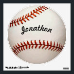"""Personalized Baseball Wall Decal<br><div class=""""desc"""">Baseball Wall Decal Perfect for the Man Cave or Boy&#39;s Teen&#39;s Bedroom or Game Room Personalized with his name!</div>"""