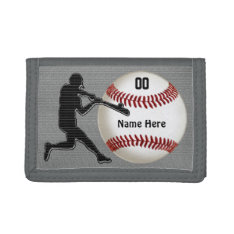 Personalized Baseball Wallets For Guys at Zazzle