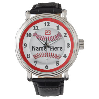 Personalized Baseball Watches for Men and Women