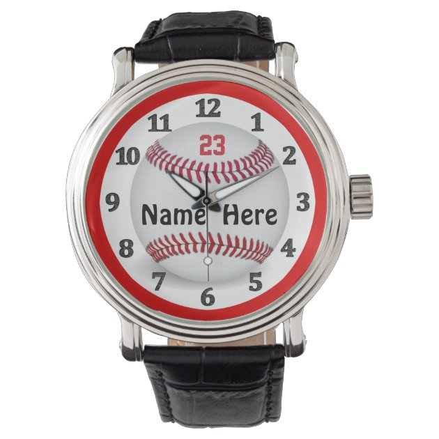 personalized baseball watches for and zazzle