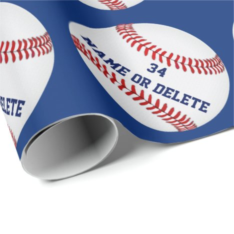 Personalized Baseball Wrapping Paper YOUR TEXT