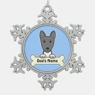 Personalized Basenji Snowflake Pewter Christmas Ornament