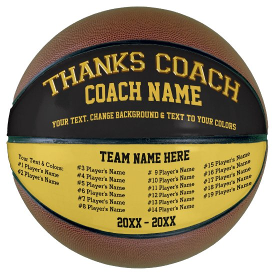 Personalized Basketball, All Players, Coach Names Basketball