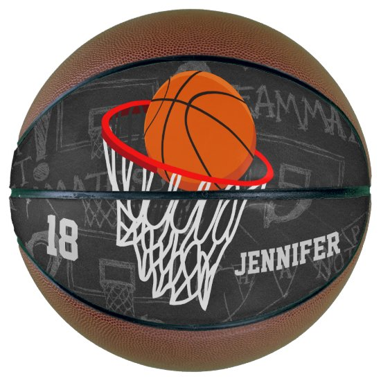 Personalized basketball and hoop design