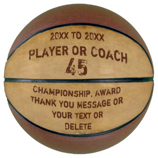 Personalized Basketball Ball, Your Grunge Text