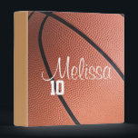 """Personalized Basketball Binder<br><div class=""""desc"""">Customize this basketball binder by changing the player name and number.</div>"""