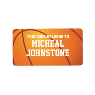 Personalized Basketball Book Plate